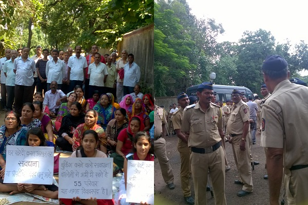 Protest against Runwal by Birla Residents