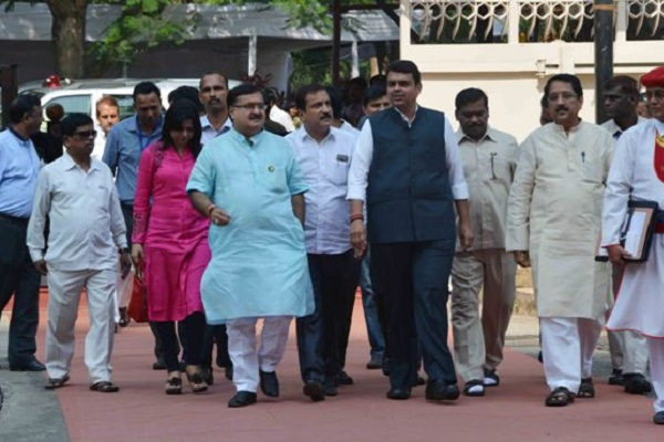 Labour Minister Prakash Mehta with Chief Minister Devendra Fadnavis