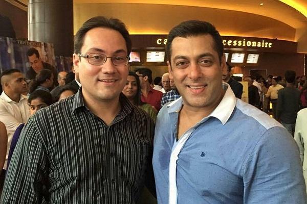 Rajjat Barjataya with Salman Khan